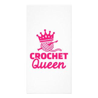 Crochet queen photo card
