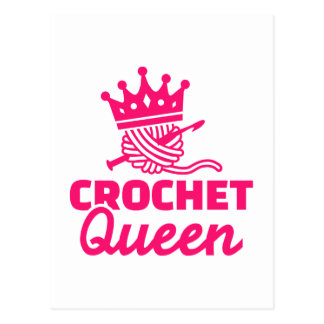 Crochet queen postcard