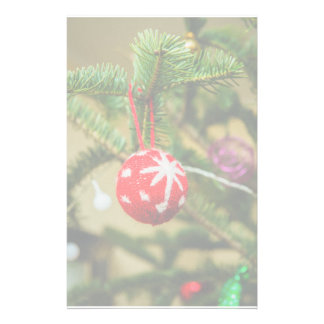 Crochet red Christmas bauble Stationery