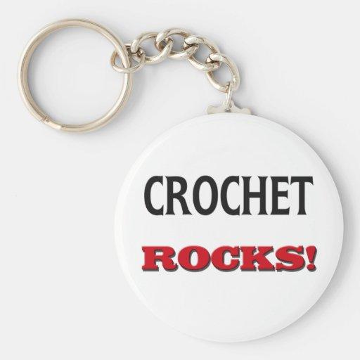 Crochet Rocks Keychain