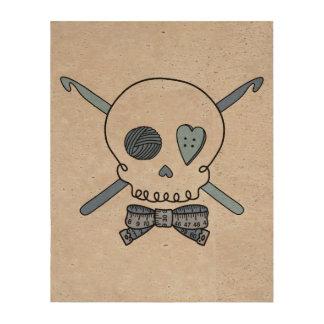 Crochet Skull Blue Back Photo Cork Paper