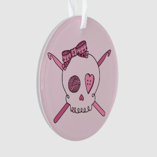 Crochet Skull (Pink Back)