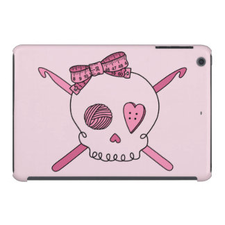 Crochet Skull (Pink Back) iPad Mini Cases