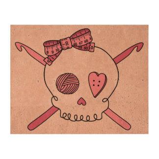 Crochet Skull Pink Back Queork Photo Prints