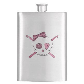 Crochet Skull (Pink) Flask