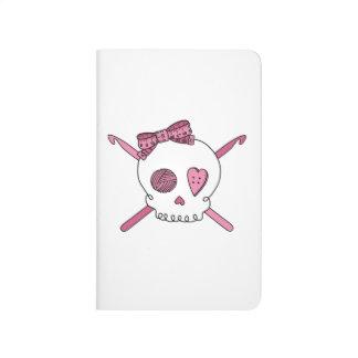 Crochet Skull (Pink) Journal