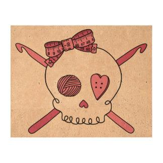 Crochet Skull Pink Queork Photo Prints