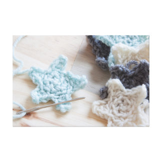 Crochet Stars Canvas Print