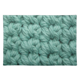 Crochet Stitches in Blue Placemat
