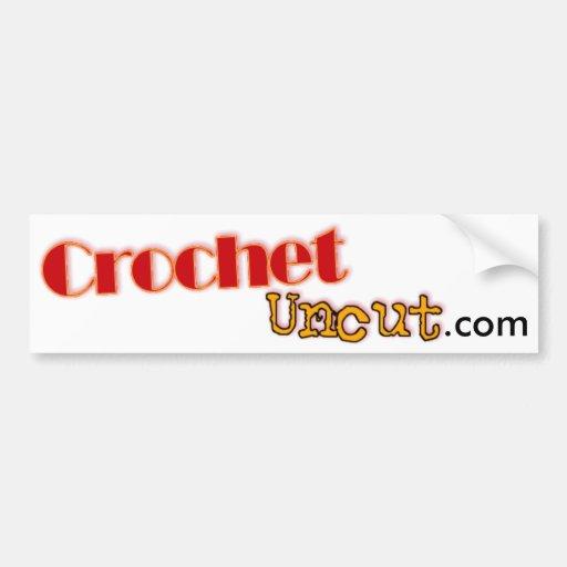 Crochet Uncut Bumper Sticker