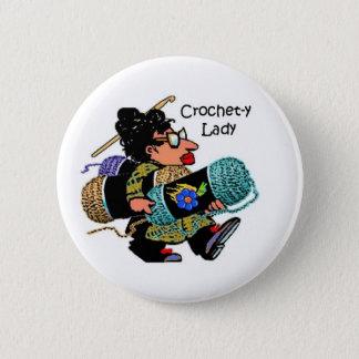 Crochet-y Lady Button