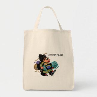 Crochet-y Lady Eco Tote Canvas Bag