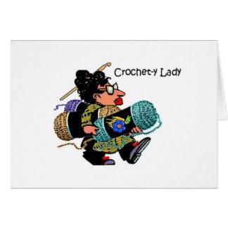 Crochet-y Lady Notecard