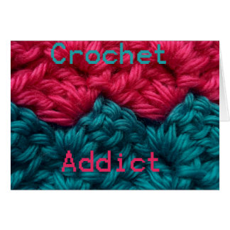 CrochetAddict part1 C2C design Greeting Card