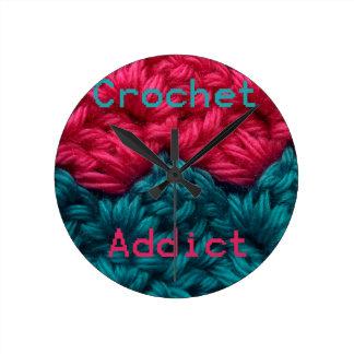 CrochetAddict part1 C2C design Round Wall Clock