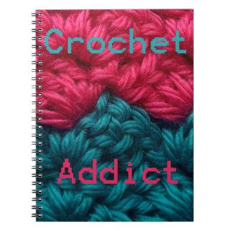 CrochetAddict part1 C2C design Spiral Note Book