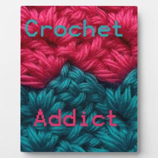 CrochetAddict part1 C2C design Photo Plaque