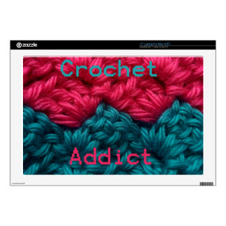 "CrochetAddict part1 C2C design Decal For 17"" Laptop"