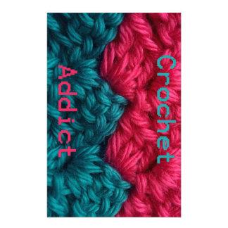 CrochetAddict part1 C2C design Stationery Design