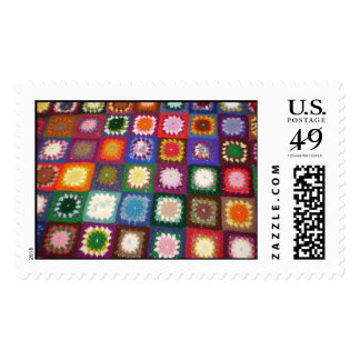 Crocheted Afghan Postage Stamps