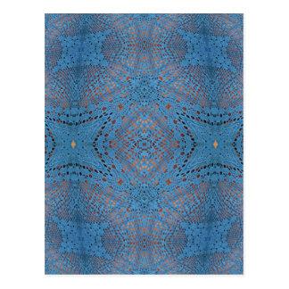 Crocheted Blue Ball Postcard