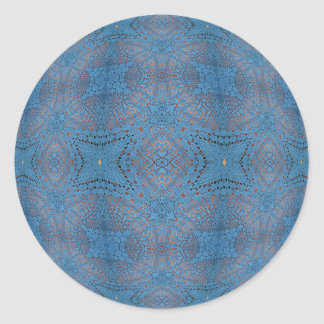 Crocheted Blue Ball Round Stickers