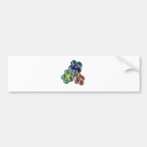 Crocheted Flowers Haekel Blumen Bumper Stickers