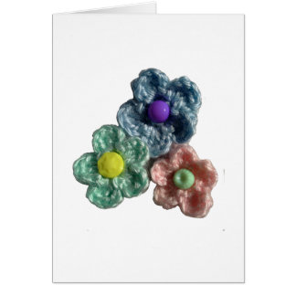 Crocheted Flowers Haekel Blumen Card