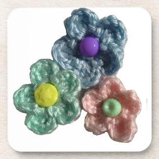 Crocheted Flowers Haekel Blumen Drink Coaster