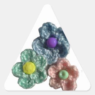 Crocheted Flowers Haekel Blumen Triangle Sticker