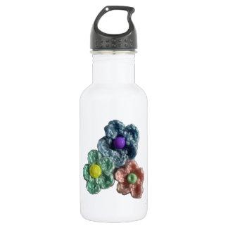 Crocheted Flowers Haekel Blumen Water Bottle