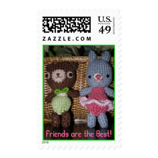 Crocheted Friends Stamps