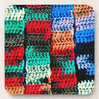 Crocheted Look on Coaster Set