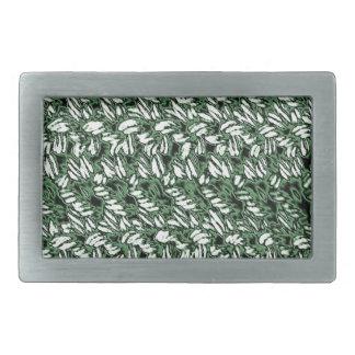 Crocheted-Mirada Hebillas Cinturón Rectangulares