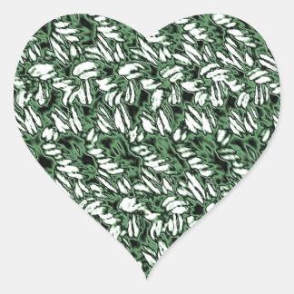 Crocheted-Mirada Pegatina En Forma De Corazón
