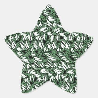 Crocheted-Mirada Pegatina En Forma De Estrella