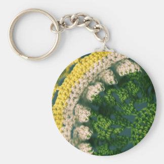 Crocheted Photo-Op Basic Round Button Keychain