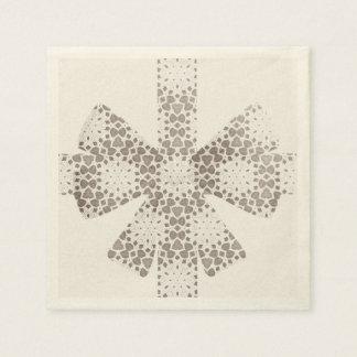 crocheted ribbon disposable napkin