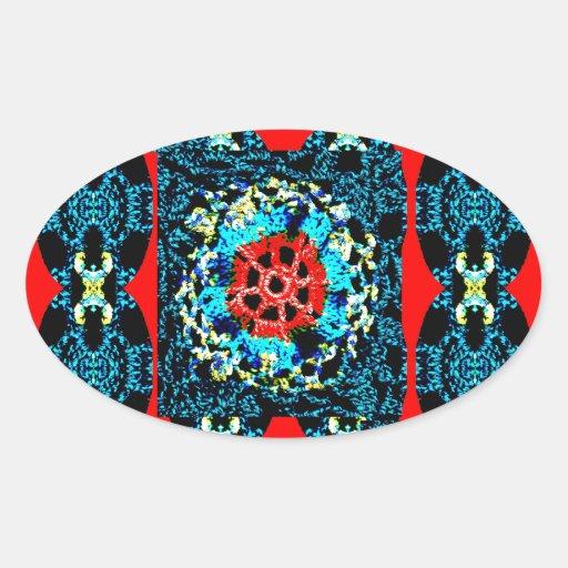 Crocheted Style Oval Sticker