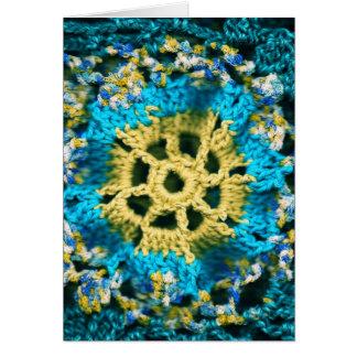 Crocheted Tarjeta De Felicitación