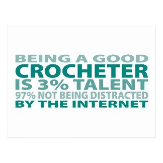 Crocheter 3% Talent Postcard