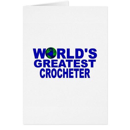 Crocheter más grande del mundo tarjeton