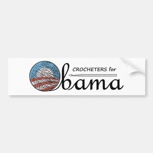 Crocheters for Obama Bumper Sticker #1