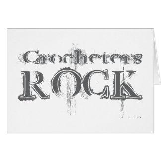Crocheters Rock Greeting Card