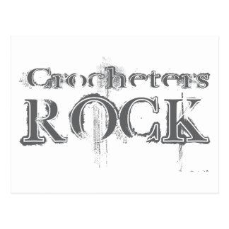 Crocheters Rock Postcard