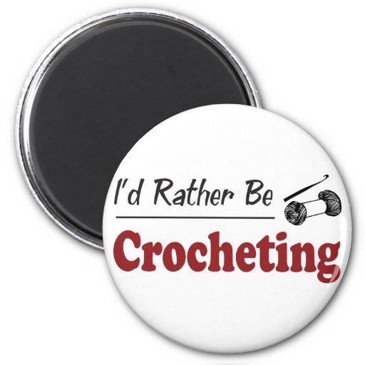 Crocheting bastante imán redondo 5 cm