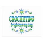 Crocheting Brightens Post Card
