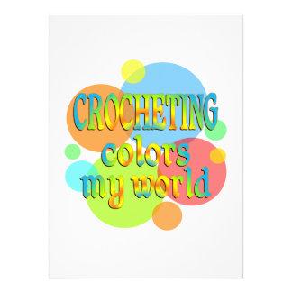 Crocheting Colors My World Invites