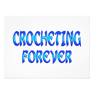Crocheting Forever Personalized Invitation