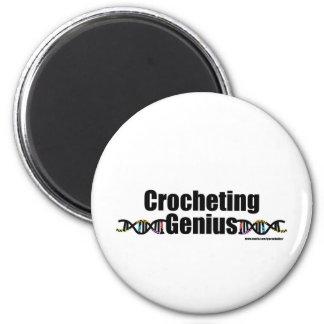Crocheting Genius DNA Merchandise 2 Inch Round Magnet